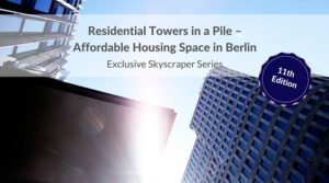 Residential towers in a pile – affordable housing space in Berlin