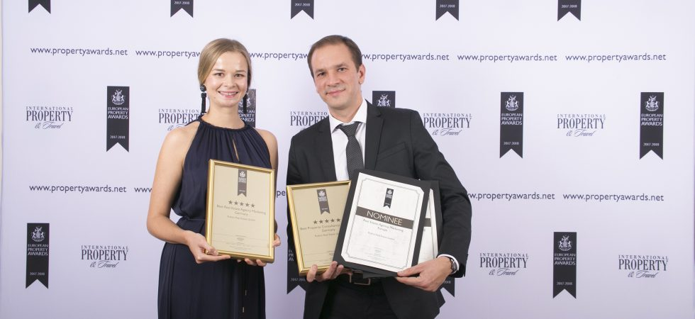 Top German Real Estate Agent Wins Double Five-Star accolade at European Property Awards