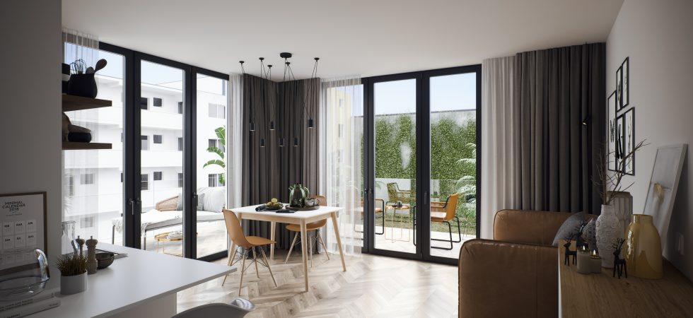 Studio apartment in a new development building in Berlin's City West