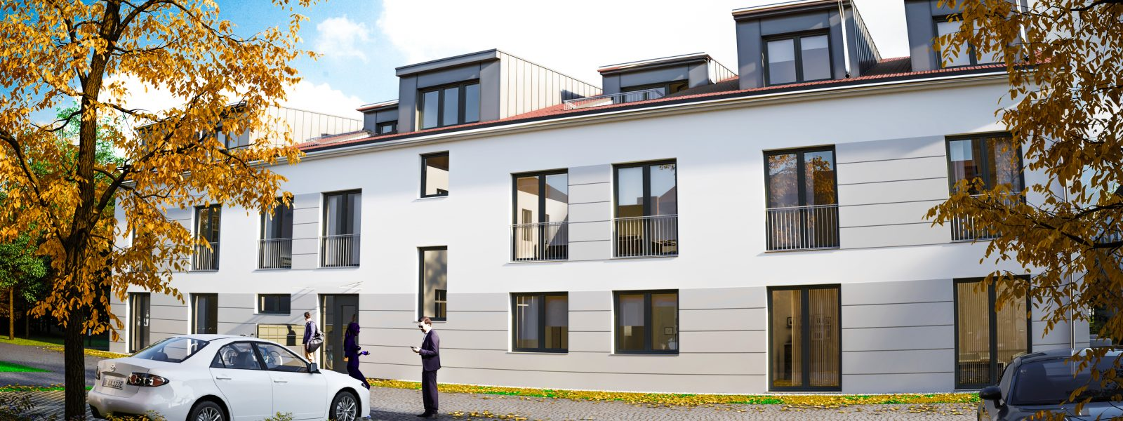 New development project with 10 apartments with parking spaces in Teltow