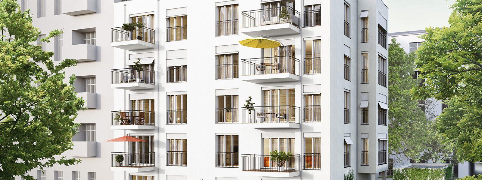 Просторная квартира с балконом в новом комплексе в Берлине