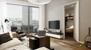 Уютная двухкомнатная квартира с балконом