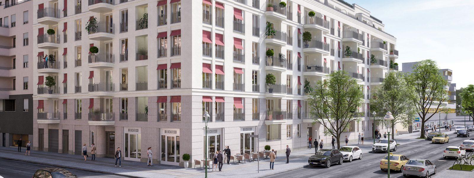 Комфортабельная двухкомнатная квартира в новостройке в Берлине-Шарлоттенбург