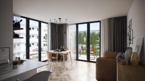 Двухкомнатная квартира с двумя террасами на западе Берлина
