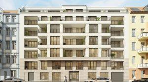 Четырехкомнатная квартира с балконом и лоджией возле Винтерфельдплац