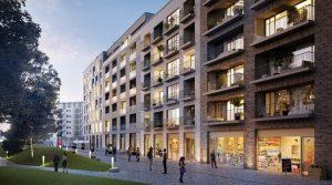 位于柏林中心地区带两个阳台的大公寓