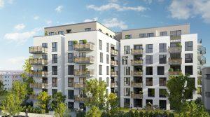 在欧洲中心地区的新建现代的公寓-法兰克福大都市圈-哈瑙市
