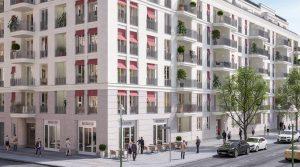 繁华地段的豪华顶层公寓