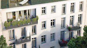 新艺术风格建筑里的豪华公寓