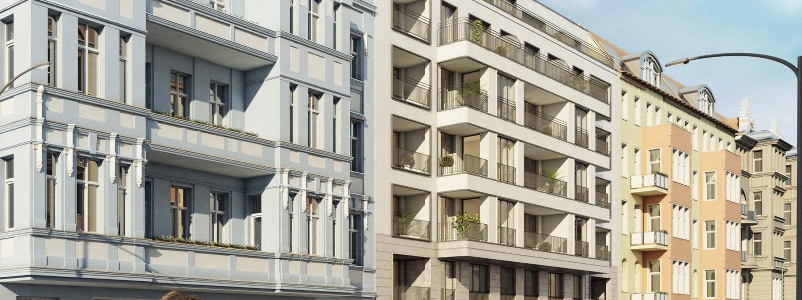 在柏林-Schöneberg的两居室公寓,带阳台和露台