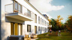 带露台的复式公寓,位于Teltow的最佳位置