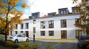 位于Teltow的10套带停车位的新建现代公寓项目